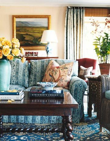 i love the colors in this one: House Beautiful, Cozy Families Rooms, Living Rooms, Design Michael, Interiors Design, Family Rooms, Decor Interiordesign, Beautiful Families, Michael Smith