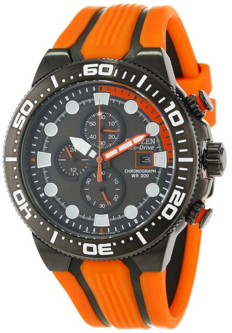 + Citizen Men's CA0517-07E Eco-Drive Scuba Fin Chronograph Dive Watch: 36% SAVINGS: