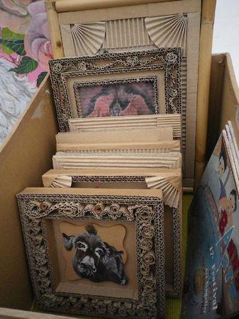 Cardboard frames!