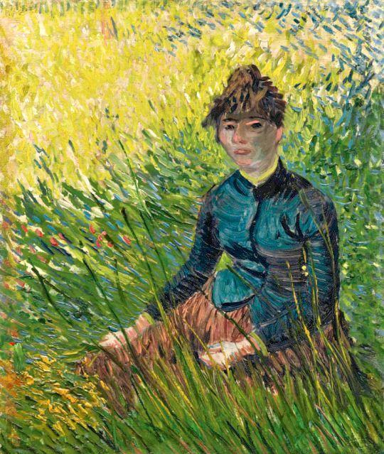 Vincent van Gogh  Femme Dans un Champ de Blé