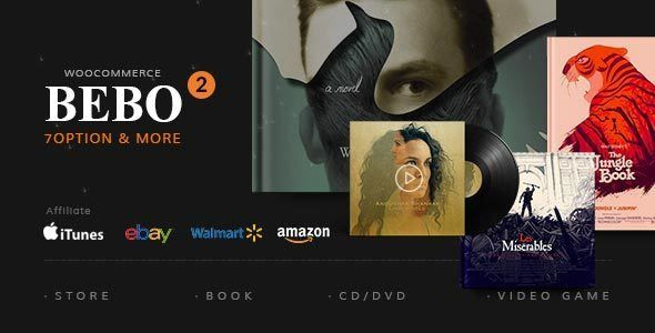 ThemeForest - BEBO - Book Issue CD/DVD Store Publish Library WP Free Download