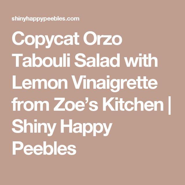 Copycat Orzo Tabouli Salad with Lemon Vinaigrette from Zoe's Kitchen | Shiny Happy Peebles