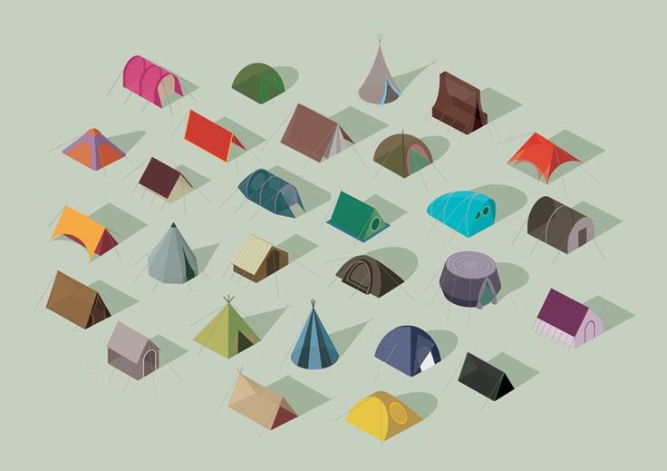 Tents! #illustration #flat
