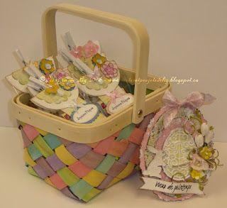 Cartes artisanales et autres projets artistiques de Liz: Une carte et d'autres sacs à surprises pour Pâques!