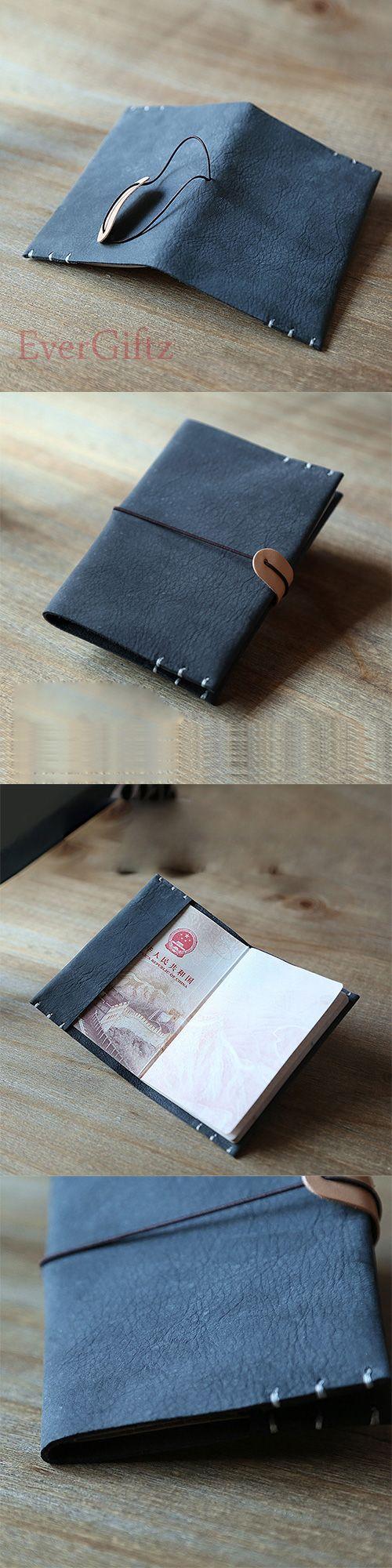 Handmade leather vintage women wallet passport purse wallet