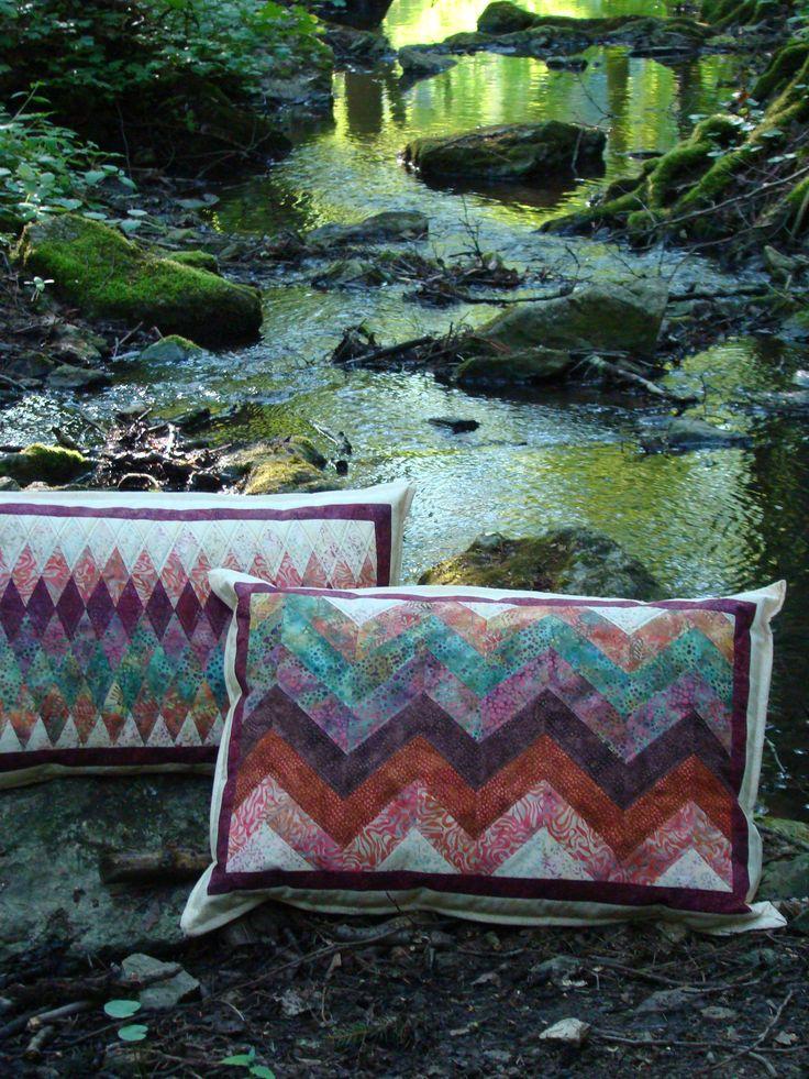 polštářky z Bali batik