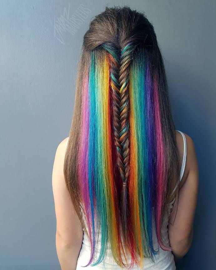 The Next Big Trends From Instagram : Hidden Rainbow Hair                                                                                                                                                                                 More