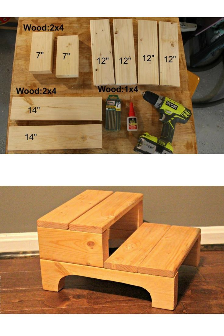 How To Make A Simple Step Stool Toolbox Divas Woodworking Projects Wood Diy Diy Woodworking