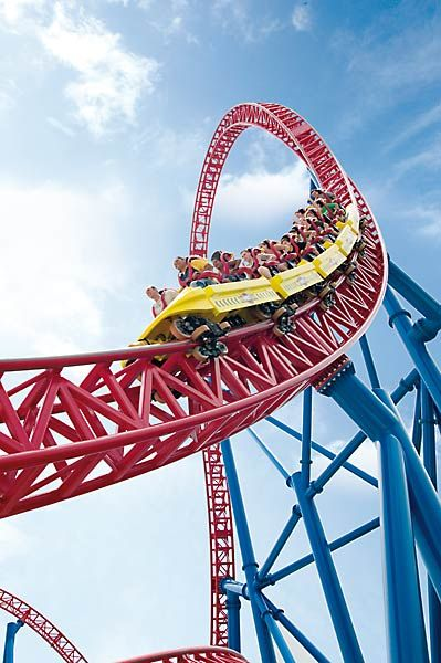 Superman Ride - Movie World, Australia - my favourite coaster, talk about adrenalin!