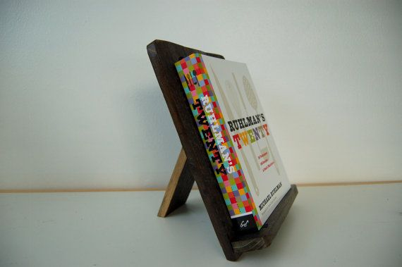 Rustic Cookbook Stand  Reclaimed Wood  Book by ButternutWoods
