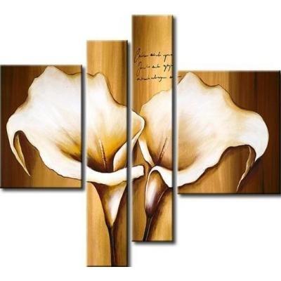Cuadro flores calas beiges 0666 tiendas de lamparas y - Lamparas para cuadros ...