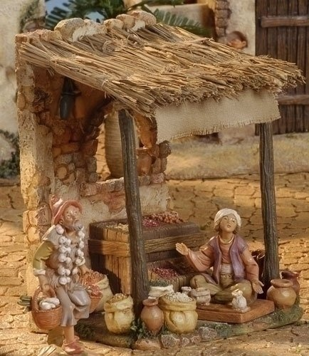 "$55.00-$0.00 Fontanini 5"" Christmas Nativity Village Spice Market #55553 - For…"