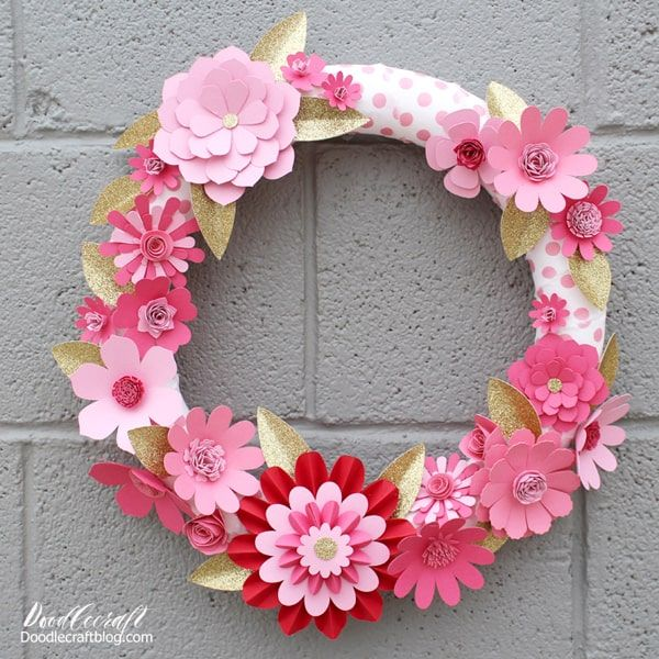25 Valentine Crafts Diy Ideas Paper Flower Wreaths Valentine