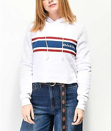 82ae2eb7ded Dickies Vintage Stripe White Crop Hoodie | purchase complete in 2019 ...