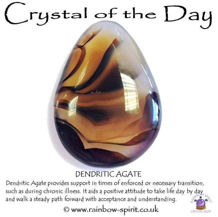 Dendritic Agate for chronic illness, one of my crystal healing posters for a Rainbow Spirit crystal shop.