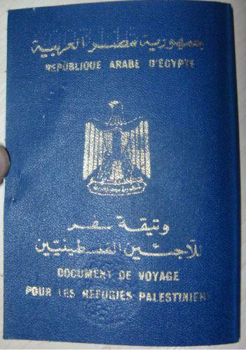 Egypt travel passport-refugees-PALESTINA-Travel-document-Palestinian-refugees