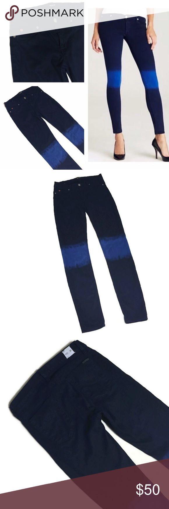 Hudson Jeans Krista Super Skinny jeans Hudson Jeans Krista Super Skinny in navy/tie dye blue. Excellent condition. Bundle and save 💙 Hudson Jeans Jeans Skinny