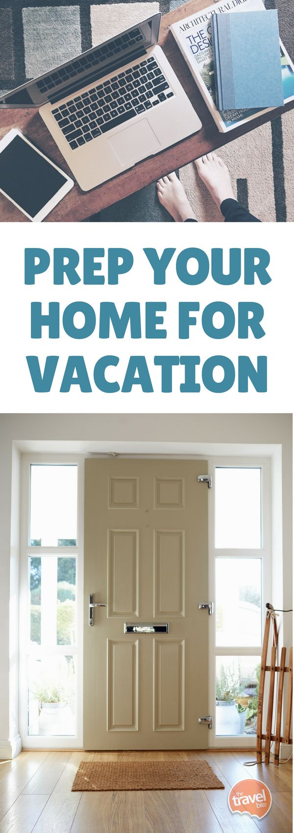 Between packing and last-minute travel planning, it is sometimes easy to forget that you should prep your home for vacation too.  But just a little work ahead of time will help bring you peace of mind while away. Here's a great checklist to go through the week before your travel. From filling your freezer with a few of your favorite foods, to tips for home security, here's our home prep checklist. #travel #traveltips #packingtips