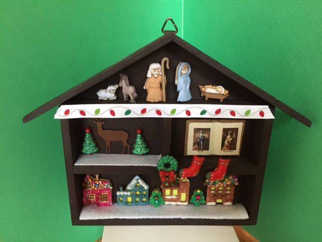 Christmas Diorama by CarikubeCafe on Etsy