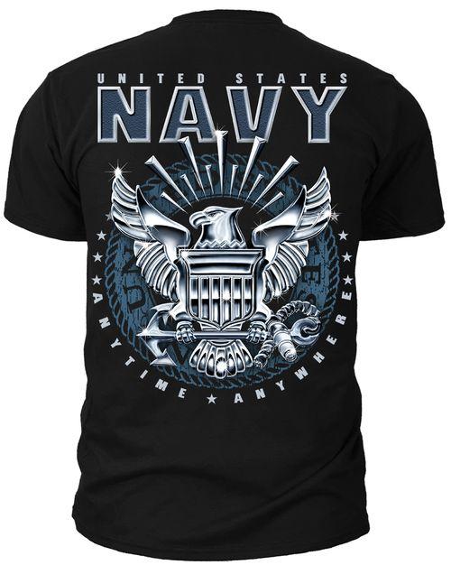 Men's Navy T-Shirt - US Navy Emblem