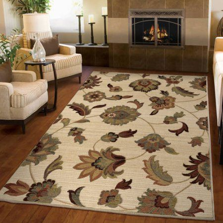 Orian Rugs Unique Designs Floral Garden Story Ivory Area Rug, Beige