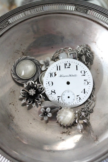 old silver and watch parts