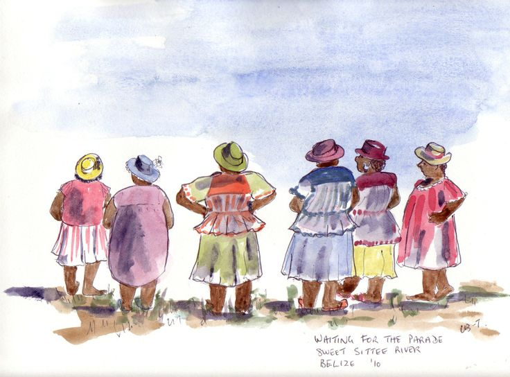 """""""Waiting for the Parade"""", Sittee River, Belize."""