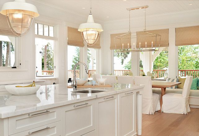 "I wan to have a beach home like this one day! LOVE THIS KITCHEN! ""Something's Gotta Give"" Inspired Home #homedecor #kitchendecor"
