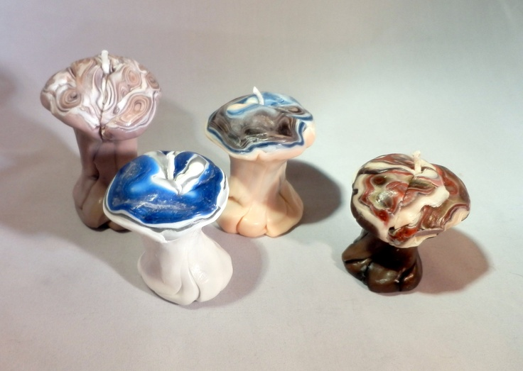 Mushroom Candles Hand Shaped Candles by Shannybeebo on Etsy, $15.00