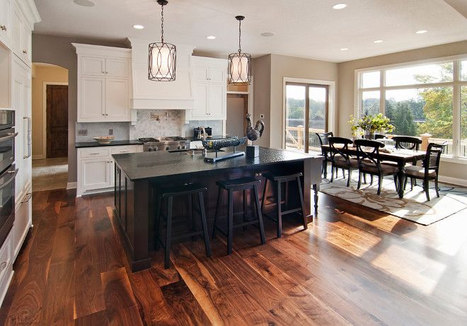 Kitchen Acacia wood flooring. Acacia wood flooring will add value to your home. Kitchen Acacia wood flooring #Kitchen #Acaciawoodflooring Granite Pro, Inc.