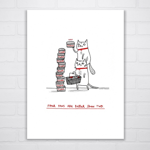Internationally acclaimed comic book artist and illustrator Gemma Correll designed this print.Book Artists, Correll Design, Illustration Gemma, International Acclaim, Comics Book, Comic Books, Acclaim Comics, Prints, Gemma Correll