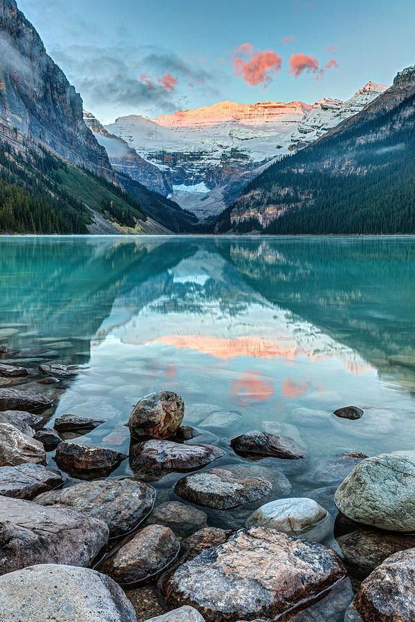 Landscape photography | Water reflections | Mountains  Dawn At Lake Louise Photograph by Pierre Leclerc Photography