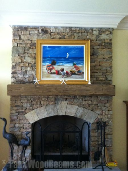 **THIS** Faux Stone and Faux Wood. LOVE the keystone ...