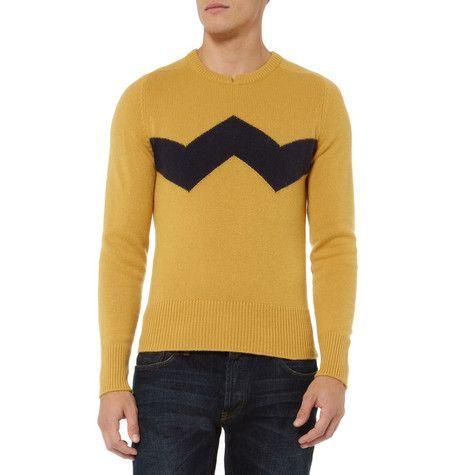 Charlie Brown Cashmere Sweater. Michael Bastian ha realizzato la maglia di Charlie Brown. Made in Italy, si può acquistare qui. Via designyoutrust.com