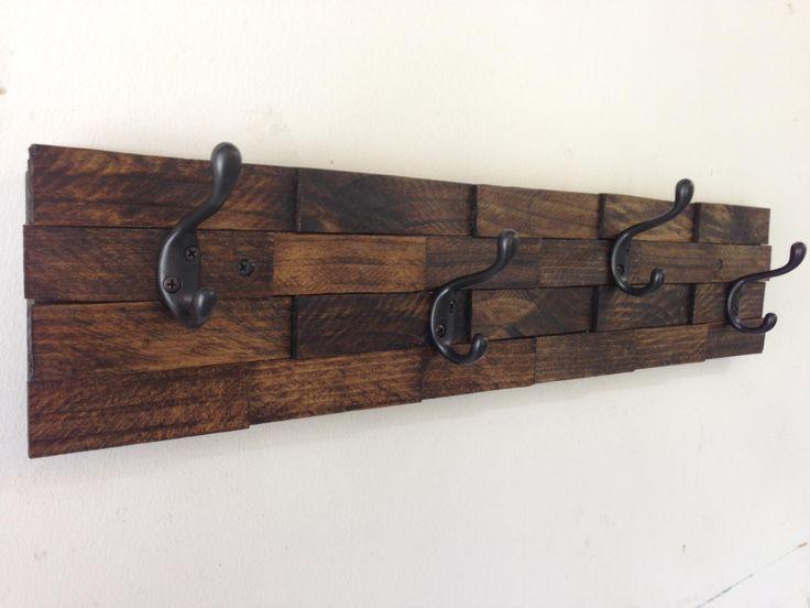 rustic wood coat rack entryway storage distressed wall coat hook rack 4 or 5 hooks towel rack entryway organizer this rustic coat rack has