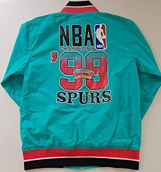 8f6e90c411c3 Mitchell and Ness San Antonio Spurs Team History Warm up Jacket 1999 NBA  Finals Champions Men s Medium  Amazon.co.uk  Clothing