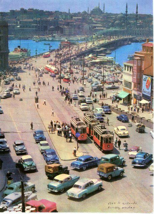 Karaköy Meydanı istanbul 1950 ler