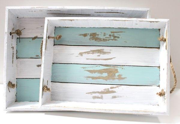 California Seashell Company Retail - Wood Trays - Set of 2, $30.00 (http://www.caseashells.com/wood-trays-set-of-2/)