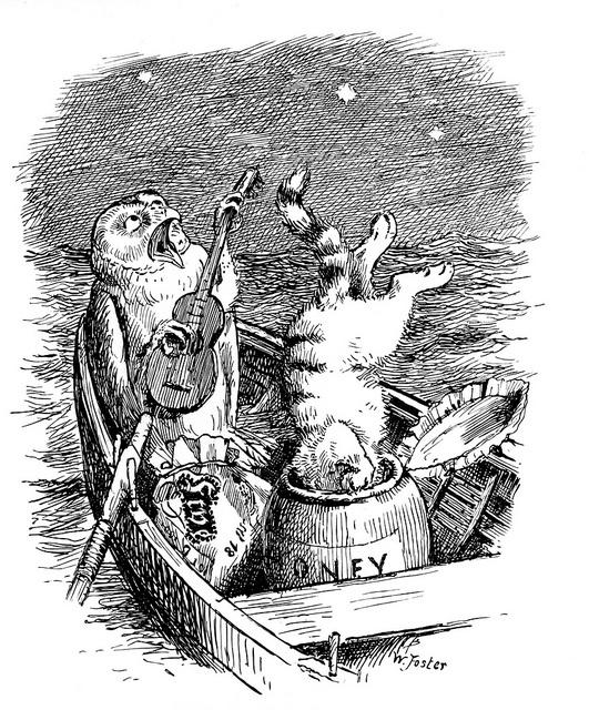 """""""Nonsense Drolleries"""" by Edward Lear, illustrations by William Foster (1889)"""
