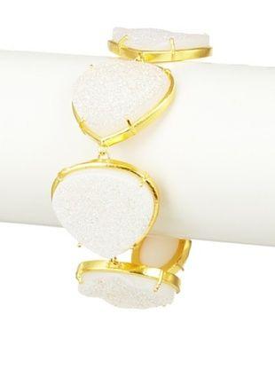 Coralia Leets White Druzy Link Bracelet