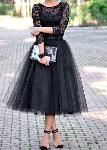 Grey Bridesmaid Dress 2015 Modest Black Tea Length Bridesmaid Dress A Line Three Quarter Sleeve Formal Vintage Bridesmaids Dresses Custom Made Grey Bridesmaid Dresses Uk From Rieshaneeawedding, $84.82| Dhgate.Com