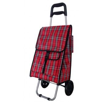 Per alcune persone fare la spesa è un piacere, per altre persone risulta una fatica. Il trolley spesa in fantasia scozzese ti allevia la fatica.