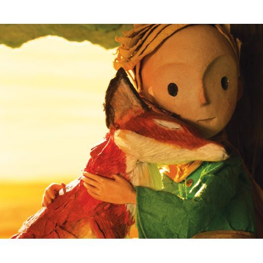This 100 pieces puzzle shows a beautiful scene of friendship between two best friends: The Little Prince and The Fox.