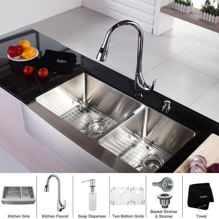 Kraus KHF203 36 KPF1621 KSD30 Kitchen Combo 35 78 8