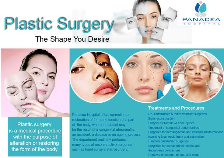#PanaceaHospital-Plastic Surgeons offers correction or restoration of face and body parts