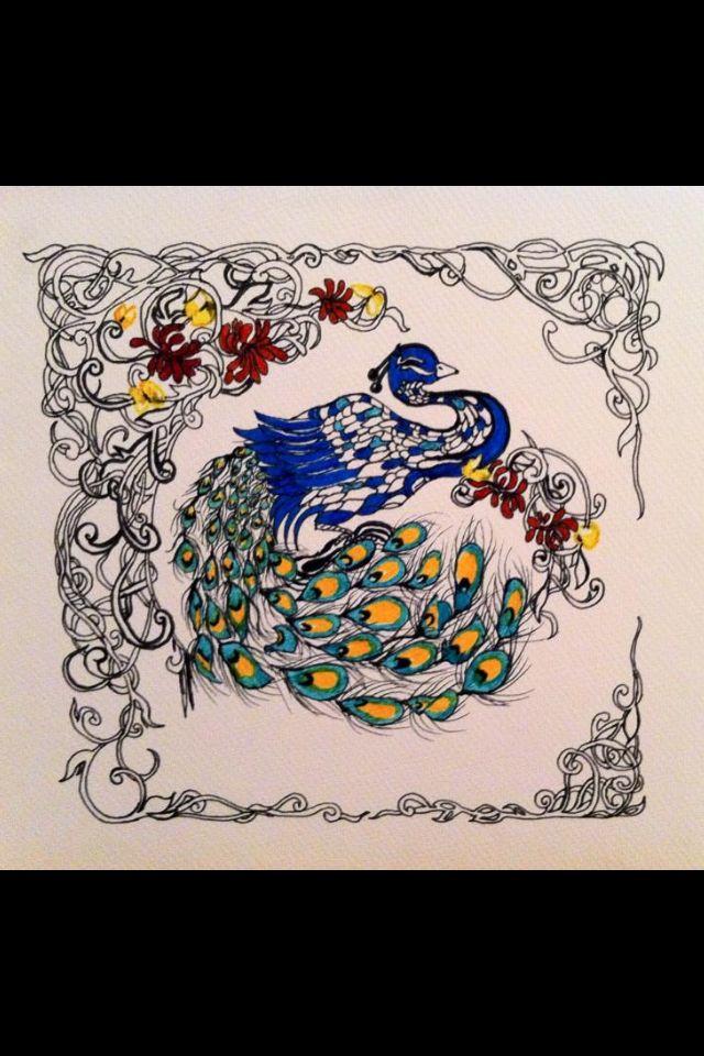 Tavus kuşu mandala