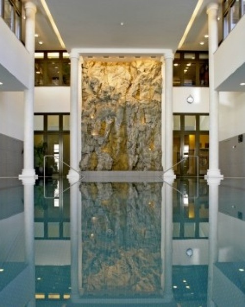 Kempinski Grandhotel des Bains  ( Sankt Moritz-Dorf, Switzerland )  In the enormous spa and indoor pool, it's all about St. Moritz's famous thermal springs. #Jetsetter   #JSSpa