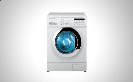 Un modelo de #lavadora Daewoo que admite hasta 8 kilos de algodón, lo que puede resultar interesante para una familia numerosa.