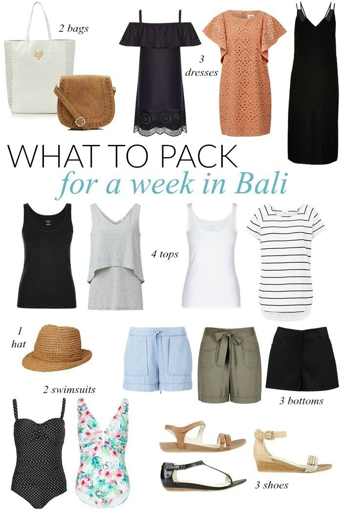 What To Pack For A Week In Bali Sonia Styling Travel