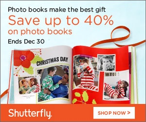 Shutterfly.com:  FREE Shipping on a $30+ order and 40% off Photo Books (thru 12/26/12)